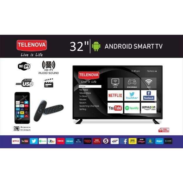 Telenova 32 (81 Ekran) Dahili Uydu Alıcılı Android 9.0 Smart TV