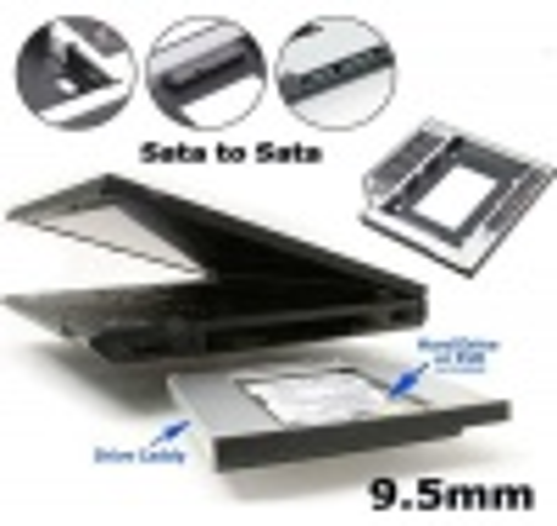 Caddy Notebook 9.5mm / 12.7mm CDROM Yerine HDD/SSD Takma Aparatı
