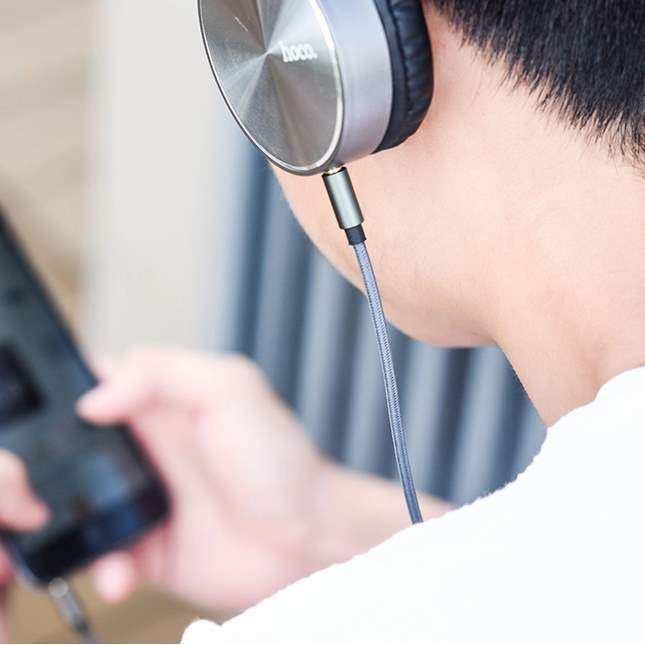 Concord Ses Kablosu AUX C811 Çelik Örme 1m İki tarafıda 3.5mm Jacklı