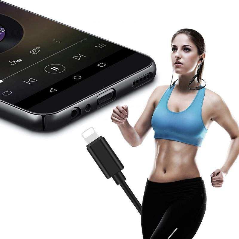 İphone Aux Kulaklık Dönüştürücü Çevirici 7 8 x xs plus max s J-002 İphone Aux Dönüştürücü