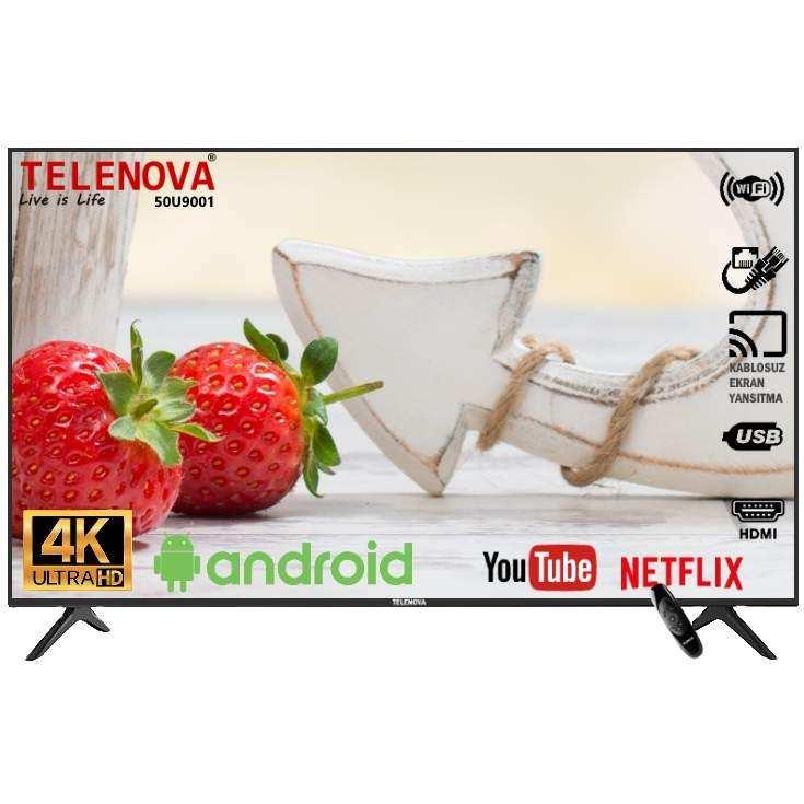 Telenova 50U9001 50 (127 Ekran) 4K Dahili Uydu Alıcılı Android 9.0 Smart TV