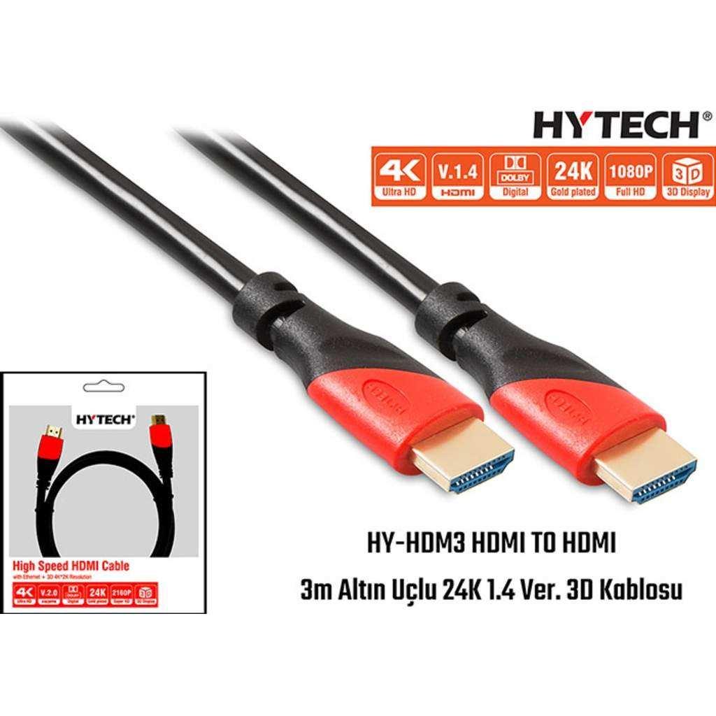 HYTECH HY-HDM3 HDMI-HDMI 3M ALTIN UÇLU 24K
