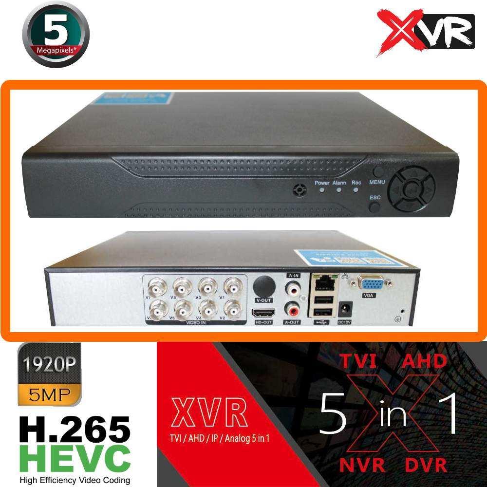 PARS XVR 5MP DVR 5in1 H.265 HYBRID 8KANAL