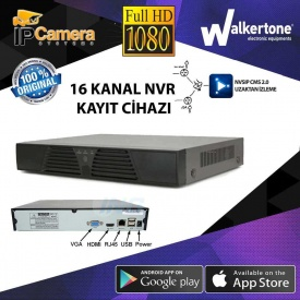 IP 16 KANAL NVR KAYIT CİHAZI AS-616NX FULL HD 2MP 1080P KAYIT