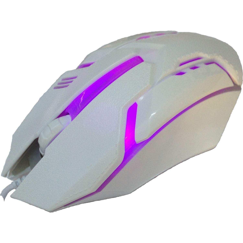 Rider M718 900 Dpi Beyaz USB 7renk Işıklı Oyuncu Mouse