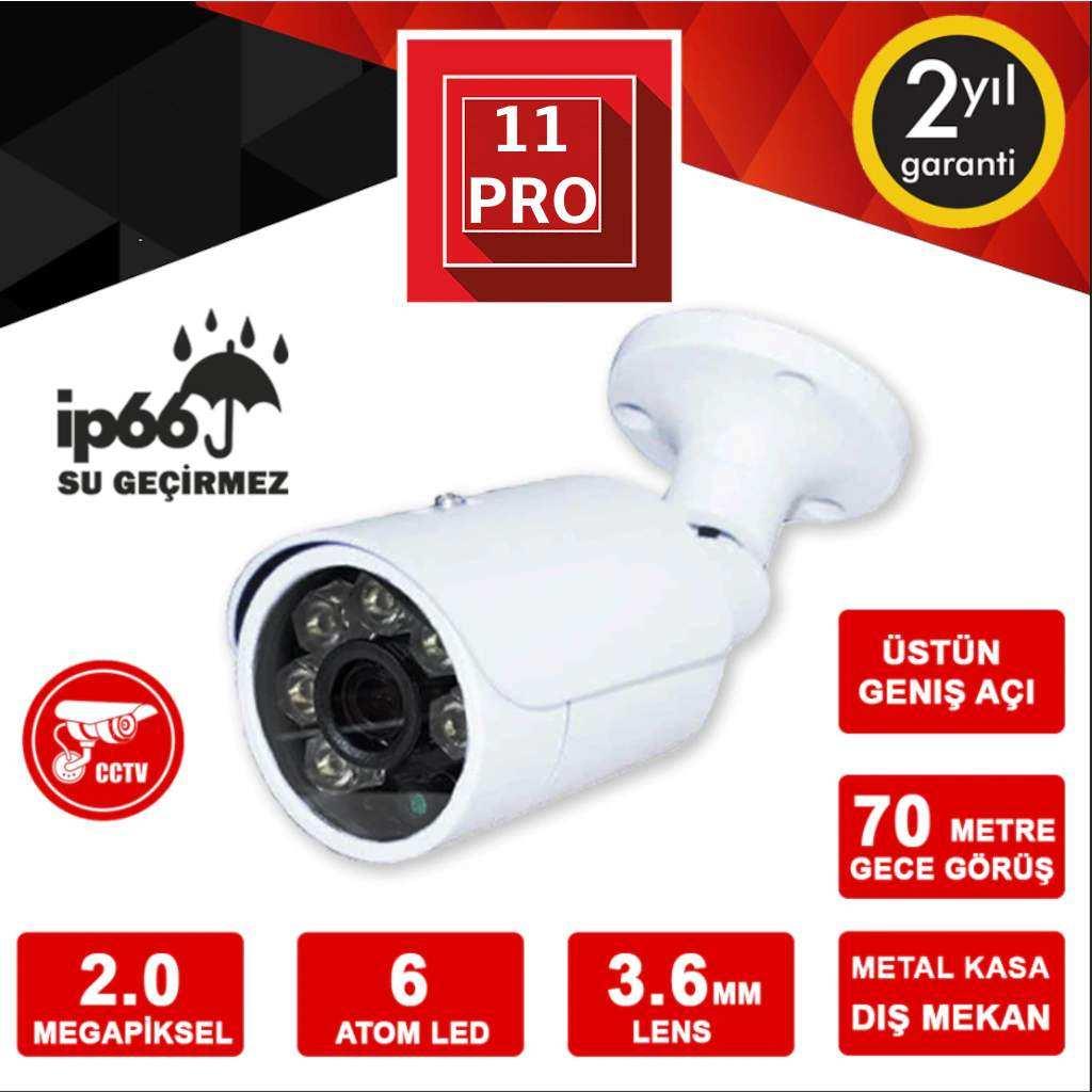 Rex 628 2MP 1080P 3.6mm Lens 6 Atom Led AHD Kamera