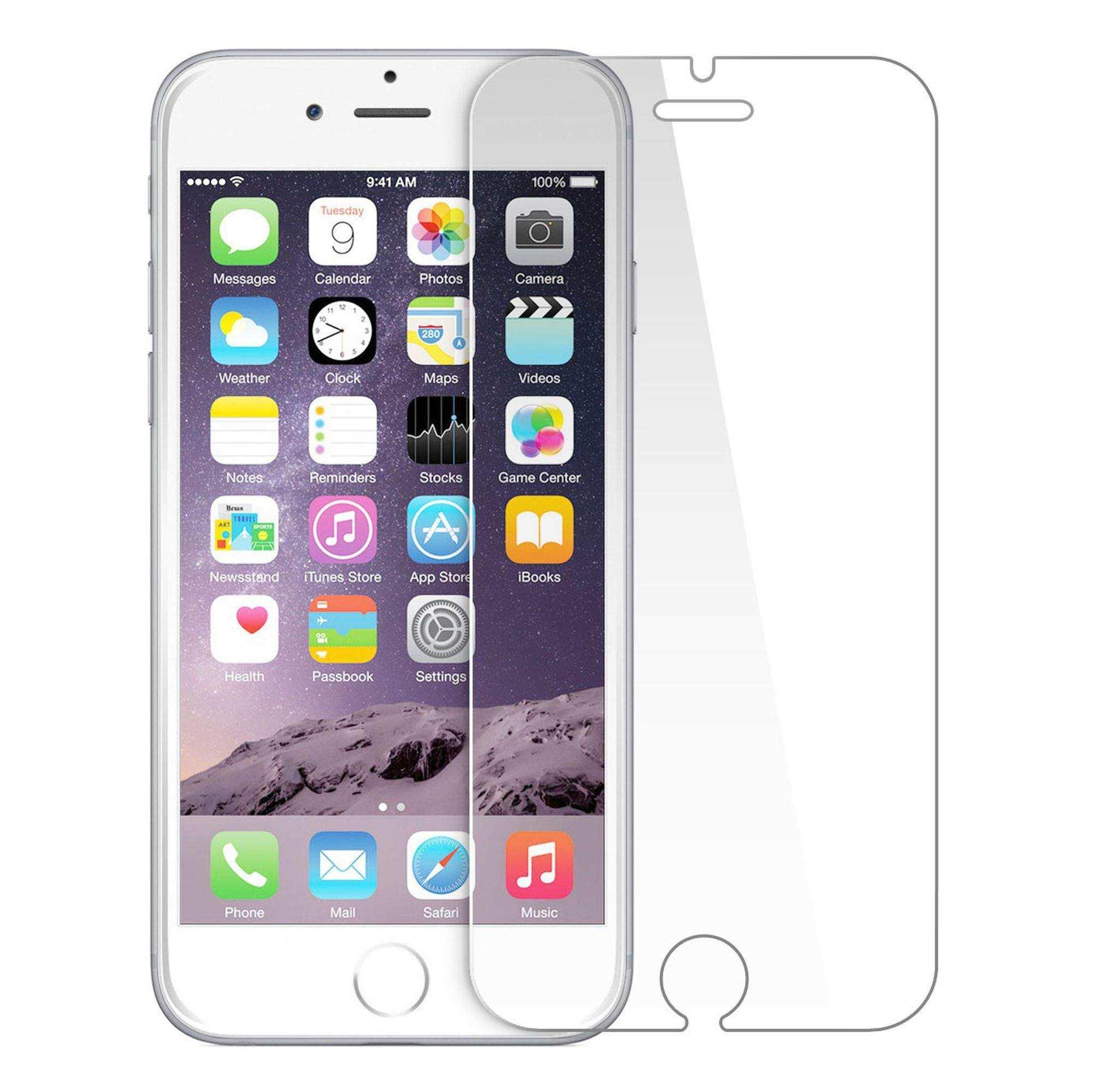 iphone 8 Plus Kırılmaz Ekran Koruyucusu Şeffaf Gerçek Temperli Cam
