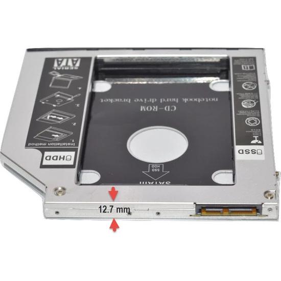 Caddy C857 Notebook 12.7mm CDROM Yerine HDD/SSD Takma Aparatı