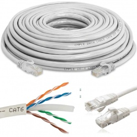 HiSpeed Cat6 Patch Ethernet Internet Kablosu 1/3/5/10/15/20/25/30 metre