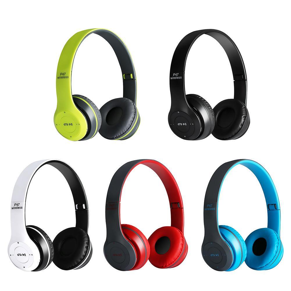 P47 Bluetooth Kulaklık Kablosuz Hafıza Kartı Kart Girişli Wireless Aux Giriş Kafaüstü Kulaklığı