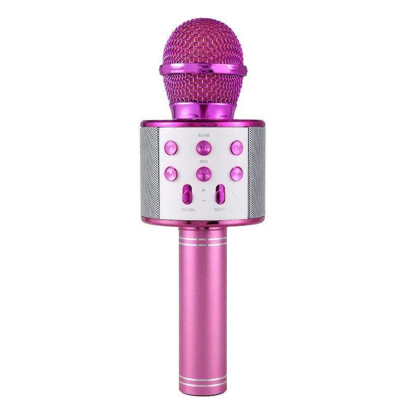 Concord Türkçe Yüksek Kalite Karaoke Mikrofon Hoparlör (C-8500) - Pembe