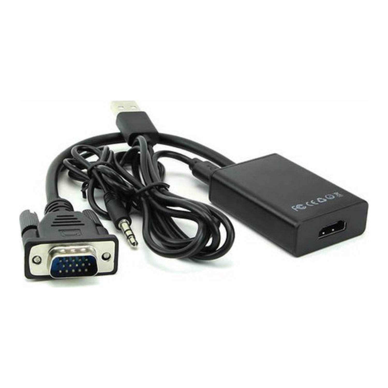 Vga To Hdmi Kablo Dönüştürücü Görüntü Ve Ses Çevirici HDMI