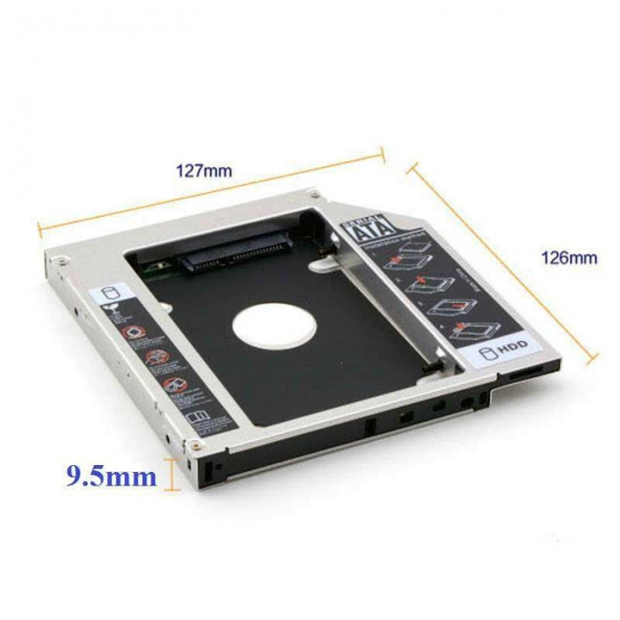 9.5mm HDD Caddy Notebook DVD to SSD Kutu Sata Laptop Notebook CD Kızak Ekstra Harddisk Slim