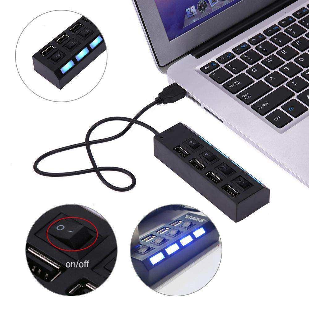 4 Port USB 2.0 Hub USB Çoğaltıcı PC Dizüstü Bilgisayar Masaüstü Için
