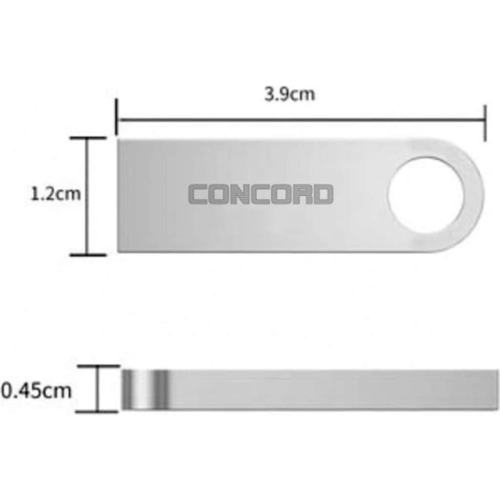 Concord 8 GB USB 2.0 Double Metal Flash Bellek (C-U8)