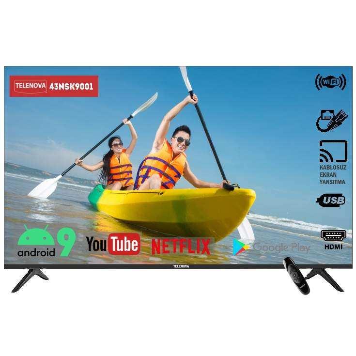 Telenova  43NSK9001  43 (109 Ekran) Dahili Uydu Alıcılı Android 9.0 Smart TV