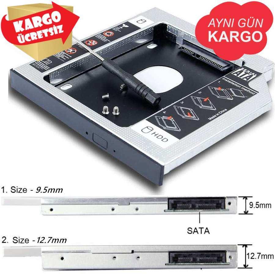 Ssd Caddy Notebook DVD Kutu Sata LAPTOP DISK HDD Kızak 9.5 / 12.7mm