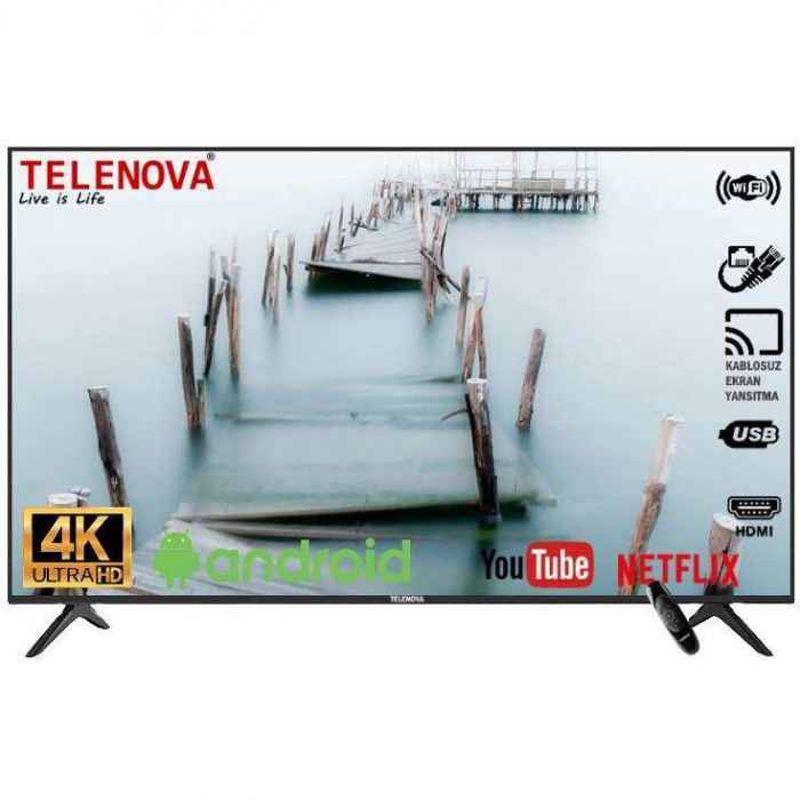 Telenova 55U9001 55 (139 Ekran) 4K Dahili Uydu Alıcılı Android 9.0 Smart TV